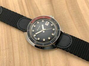 Vintage Bulova Oceanographer Snorkel 666 Diver Stainless Steel Wristwatch 1968