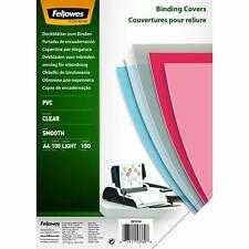 100 Copertine per Rilegatura in PVC Trasparente Formato A4, Fellowes 5376001