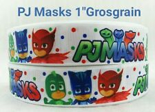 "PJ Masks 1"" Grosgrain Ribbon, 3yards, Disney Junior Party decorations hair bow"