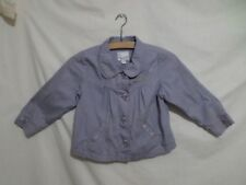 Next Girls Grey Floral Embellished Jacket 100% Cotton Size 4-5 Years