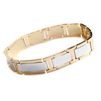 bracciale braccialetto da donna in acciaio dorato elegante cod. 78