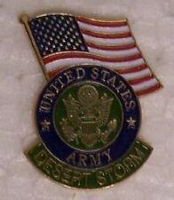 Hat Lapel Tie Pin Desert Storm Army Emblem & Flag NEW