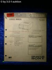 Sony Service Manual TC WR808M Cassette Deck  (#0748)