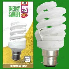 10x 15W =75W Quick Start Basse Energie CFL Spirale Ampoules basse consommation