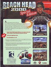 BEACH HEAD 2000 ORIGINAL SPECIAL EDITION ORIGINAL VIDEO ARCADE GAME SALES FLYER