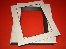 25 WHITE BLACK CORE PICTURE MOUNTS 20 x 16'' FOR 16 x 12''