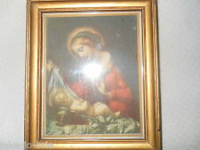 Vintage Sifrits Company Jesus Holy Picture Paper Back Before 1950 Virgin Mary Sm