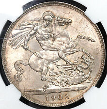 1902 NGC MS 63 St George Dragon BU Crown GREAT BRITAIN Coin (16041001D)