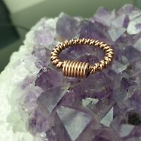 Tensor Finger Ring Single, Double Wrapped Coil, Adjustable Sacred Cubit Orgone