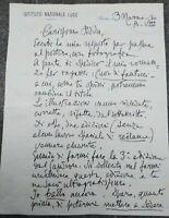 1930 220) LETTERA AUTOGRAFA DEL FUMETTISTA E GIORNALISTA FILIBERTO SCARPELLI