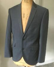 "Taylor & Wright blue grey Jacket Blazer quality designer wool blend 38"" 96cm S"