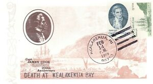 "USA 1979 COVER UNUSED ""DEATH AT KEALAKEKUA BAY CPT. COOK 200 ANNIVERSARY"
