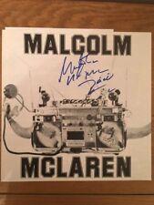 Genuine autographed Malcolm McClaren LP inner cover