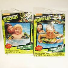 Pool Ring Arm Floatie Set TMNT Ninja Turtles Water Wings Armband Kids Swim