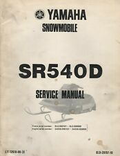 1980 YAMAHA  SNOWMOBILE SR540D SERVICE MANUAL LIT 12618-00-31 (022)