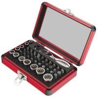 Sunex 9732 Tools 1/4 In. Drive 44-piece Socket And Bit Set With Mini Dual Flex