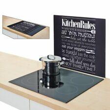 "Zeller Glass Herdblendeplatte Stove Cover "" Kitchen Rules "" Kitchen Back Wall"