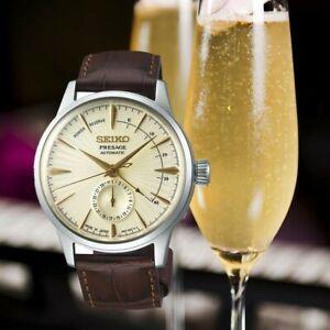 "Seiko Presage ""Cocktail Time"" SSA387J1 Champagne Caliber 4R57 29 Jewels Stunning"
