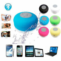 New WIRELESS WATERPROOF SPEAKER portable BLUETOOTH handsfree shower suction mic