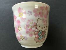 Hello Kitty Sakura Cherry Blossoms Yunomi Tea Cup Teacup MADE IN JAPAN