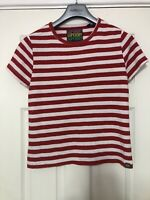 Superdry Red Stripes T Shirt Womens Short Sleeve Size 10 Great Cond (D658)
