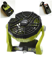 New Ryobi P3320 18V HYBRID PORTABLE FAN WITH 4.0Ah BATTERY & BATTERY CHARGER