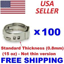 500 PC 1/2 PEX All Stainless Steel Pinch Clamps Ring PEX12 Professional Grade