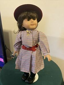 """Retired Pleasant Company 18"""" 1990 Samantha Doll With Original Outfit Great Shape"""
