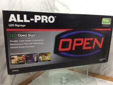 All-Pro 9� Led Light Open Neon Opnled On / Off / Flash Functions Cooper Lighting