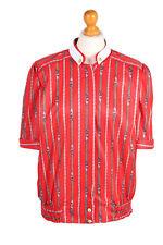 Camisa Vintage Manga Corta Marinero estilo ancla Estampado RU Chest XL Rojo -