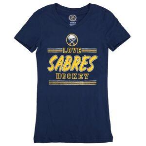 Buffalo Sabres Outerstuff NHL Girls Navy Blue V-Neck Short Sleeve T-Shirt