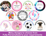 Personalised Edible Cake Toppers - Rice Paper Wafer Your Own Image Photo Cup