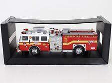 Code 3 FDNY New York Seagrave Pumper Squad Co 18 Fire Truck 1:64 Diecast 12656