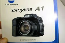 Minolta DiMage A1 camera guide Instructions user's manual English EN