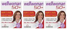 3x Vitabiotics Wellwoman 50+  Health & Vitality 30 Tablets