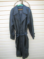 Men's Genuine Leather trench coat.  Size MEDIUM.  By, New York Direct Action.