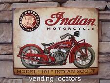 INDIAN Motorcycle Scout LOGO Metal Sign USA Wall Decor Garage Display Chief New