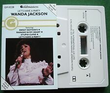 Wanda Jackson Let's Have A Party inc Stupid Cupid + Cassette Tape - TESTED