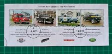 2013 British Auto Legends :The Workhorses Miniature sheet USED