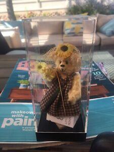 "LITTLE GEM TEDDY BEARS MINIATURE SUNFLOWER BEAR 🐻 SHERRIE DODSON 6"" MIB WTAG"