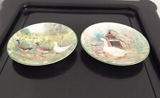 Royal Kendal Alex Williams Collection x 2 Small Plates Ducks & Goose 5� (Pw)
