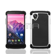 Hybrid Impact Shock Proof Rugged Shell Skin Case Cover For LG Nexus 5 - White