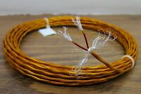 10 feet 20 AWG Shielded Silver Plated Kapton PTFE Wire 2 Twisted red red