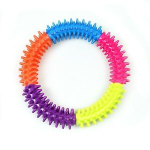 Dog Toy Puppy Soft Rubber Teething Play Pet Train Healthy Gum Chew Ring, 4615
