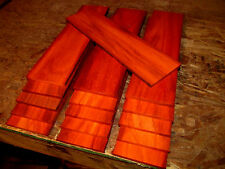 "SIXTEEN (16) THIN, KILN DRIED, SANDED EXOTIC PADAUK 12 X 3 X 1/4"" LUMBER WOOD"