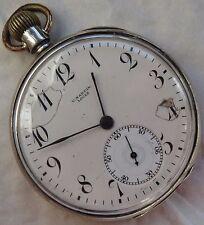 U. Nardin Pocket Watch open face silver case 50 mm. in diameter load manual