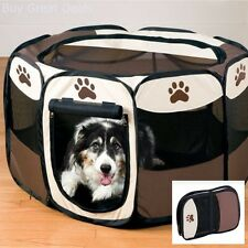 Pet Puppy Dog Play Pen Crate Large Exercise Pen Kennel Folding Portable New