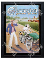 Historic Champion spark plugs Advertising Postcard