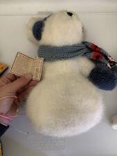 Boyds Bear Snowman Plush Franz Farklefrost #904027 With Tags Scarf Mittens