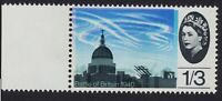 1965 B.O.B. 1/3d ERROR STAMP - MARGINAL COLOUR SHIFT
